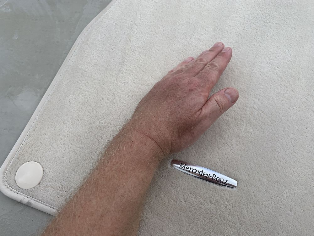 Use your hand as a squeegee to remove excess water.
