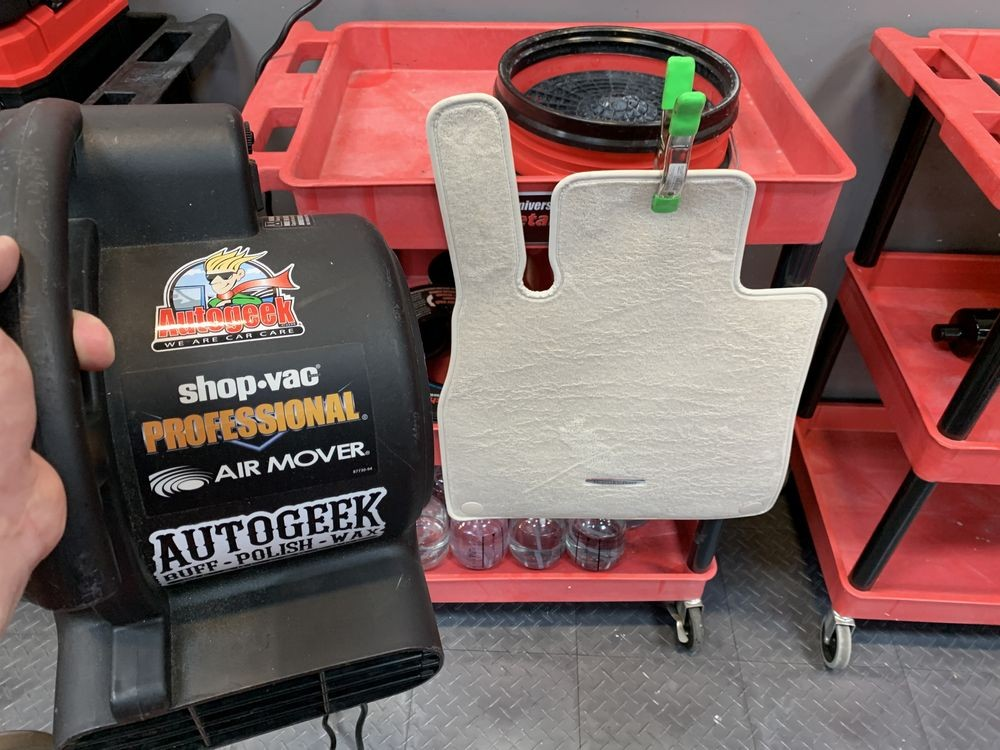 A Shop Vac Air Mover can also be used to dry the carpets.