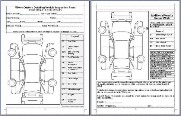 High Quality Mike Phillips Vehicle Inspection Form